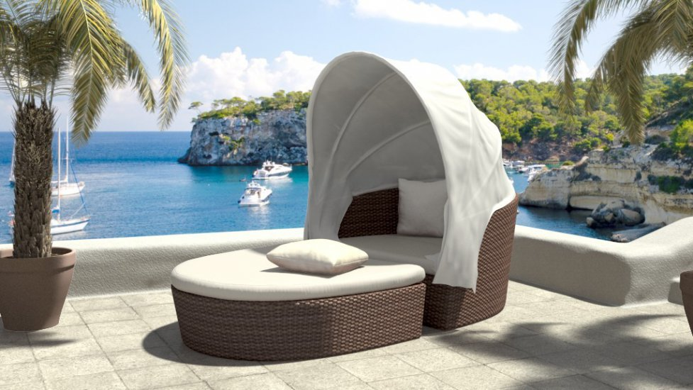 Wicker Daybed FCO-019B