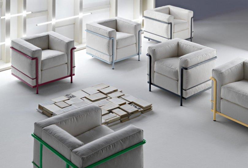 Le Corbusier Lc2 Sofa Outdoor Rattan Furniture Manufacturer Modern